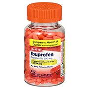 H-E-B Ibuprofen 200 mg Caplets Clear Bottle