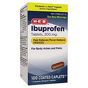 H-E-B Ibuprofen 200 Mg Coated Caplets