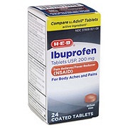 H-E-B Ibuprofen, 200 mg Coated Tablets