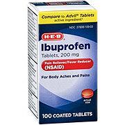 H-E-B Ibuprofen 200 mg Coated Tablets