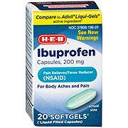 H-E-B Ibuprofen 200 mg Softgels