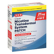 H-E-B InControl Clear Nicotine Transdermal System Patch 21MG