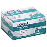 H-E-B InControl Insulin Syringes Short Needle