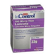 H-E-B InControl Micro Thin Lancets
