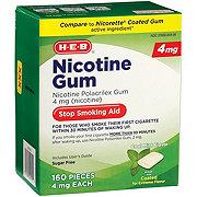 H-E-B InControl Nicotine CTD Gum Mint 4 mg