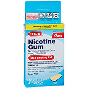 H-E-B InControl Nicotine Gum 4 mg Stop Smoking Aid Pieces