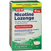 H-E-B InControl Nicotine Lozenge Mint 4 mg