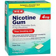 H-E-B InControl Nicotine Mint Gum 4 mg