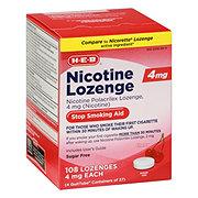H-E-B InControl Nicotine Sugar Free Cherry Lozenge 4 mg