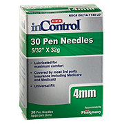 H-E-B InControl Pen Needles 4 mm (5/32