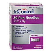 H-E-B InControl Pen Needles Micro 5 mm (3/16