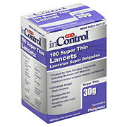 H-E-B InControl Super Thin Lancets 30 Gauge