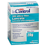 H-E-B InControl Ultra Thin 28 Gauge Lancets