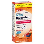 H-E-B Infants Ibuprofen Age:  6 Mos. To 23 Mos. Oral Suspension Berry Flavor