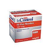 H-E-B Inontrol Pen Needles, 4MM 32G