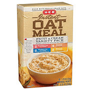 H-E-B Instant Fruit and Cream Variety Pack Oat Meal