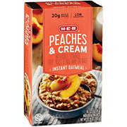 H-E-B Instant Peaches and Cream Oat Meal