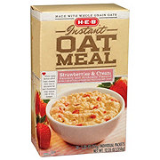 H-E-B Instant Strawberries & Cream Instant Oatmeal