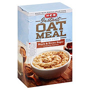 H-E-B Instant Sugar Free Maple And Brown Sugar Oatmeal
