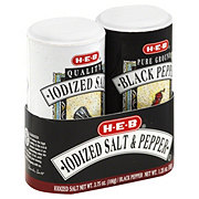 H-E-B Iodized Salt & Pepper Shaker