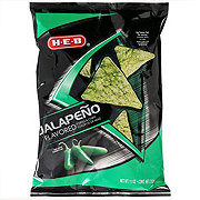 H-E-B Jalapeno Flavored Tortilla Chips