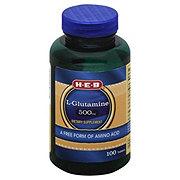 H-E-B L-Glutamine 500mg Softgels