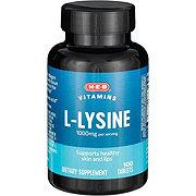 H-E-B L-Lysine 1000 mg Tablets
