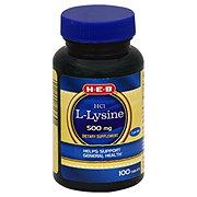 H-E-B L-Lysine HCl 500 mg Tablets