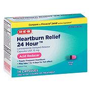 H-E-B Lansoprazole 24 Hour Acid Reducer 15 mg Capsules