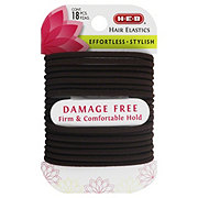 H-E-B Large Damage Free Brown Hair Elastics