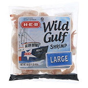 H-E-B Large Raw Wild Gulf Shrimp, 31/40 ct