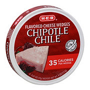 H-E-B Light Chipotle Spreadable Cheese Wedges