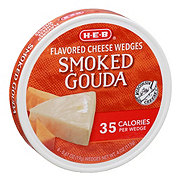H-E-B Light Smoked Gouda Spreadable Cheese Wedges