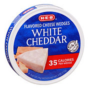 H-E-B Light White Cheddar Spreadable Cheese Wedges