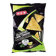 H-E-B Limited Edition Cilantro Lime Crema Flavored Tortilla Chips