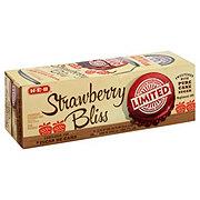 H-E-B Limited Edition Pure Cane Sugar Strawberry Bliss Soda 12 oz Cans