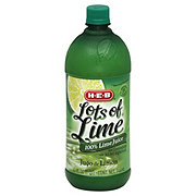 H-E-B Lot of Lime Natural Strength 100% Lime Juice