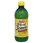 H-E-B Lots of Lemon Natural Strength 100% Lemon Juice