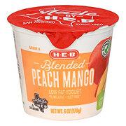 H-E-B Low Fat Blended Peach Mango 1% Milkfat Yogurt