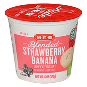 H-E-B Low Fat Blended Strawberry Banana Yogurt