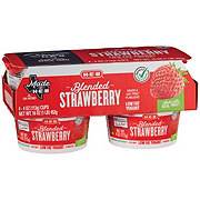 H-E-B Low Fat Blended Strawberry Yogurt