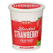 H-E-B Low Fat Blended Yogurt, Strawberry