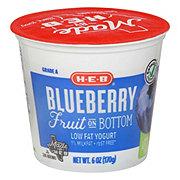 H-E-B Low Fat Fruit On The Bottom Blueberry Yogurt
