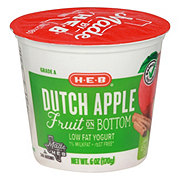 H-E-B Low Fat Fruit on the Bottom Dutch Apple Yogurt