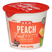 H-E-B Low Fat Fruit On The Bottom Peach Yogurt