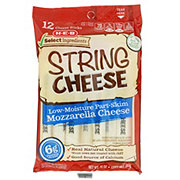 H-E-B Low Moisture Part-Skim Mozzarella String Cheese