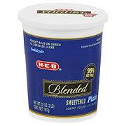 H-E-B Lowfat Blended Sweetened Yogurt, Plain