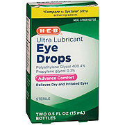 H-E-B Lubricant Ultra Eye Drops Twin Pack