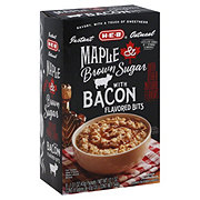 H-E-B Maple Brown Sugar with Bacon Flavored Bits Instant Oatmeal