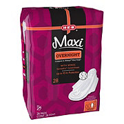 H-E-B Maxi Overnight Pads with Wings
